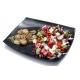 Ciuperci la gratar, salata greceasca, sos de iaurt